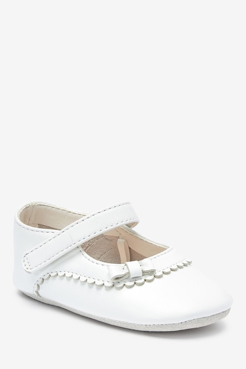 Next Leather Mary Jane Pram Shoes (0-18mths)