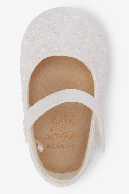 Next Embroided Mary Jane Pram Shoes (0-18mths)