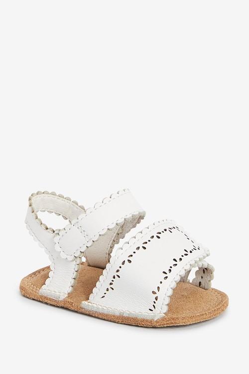 Next Premium Leather Pram Sandals (0-18mths)