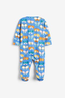 Next 3 Pack Printed Sleepsuits (0-2yrs) - 286019