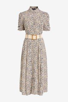 Next Belted Shirt Dress - 286029