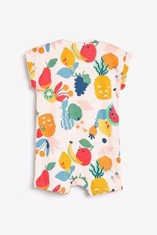 Next 3 Pack GOTS Organic Fruit Print Rompers (0mths-3yrs) - 286037