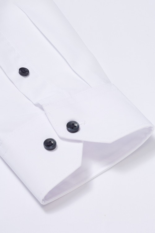 Next Wing Collar Shirt With Bow Tie And Pocket Square-Skinny Fit Single
