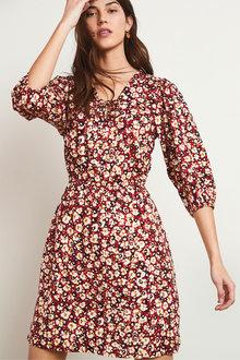 Next Lace-Up Mini Dress - 286049