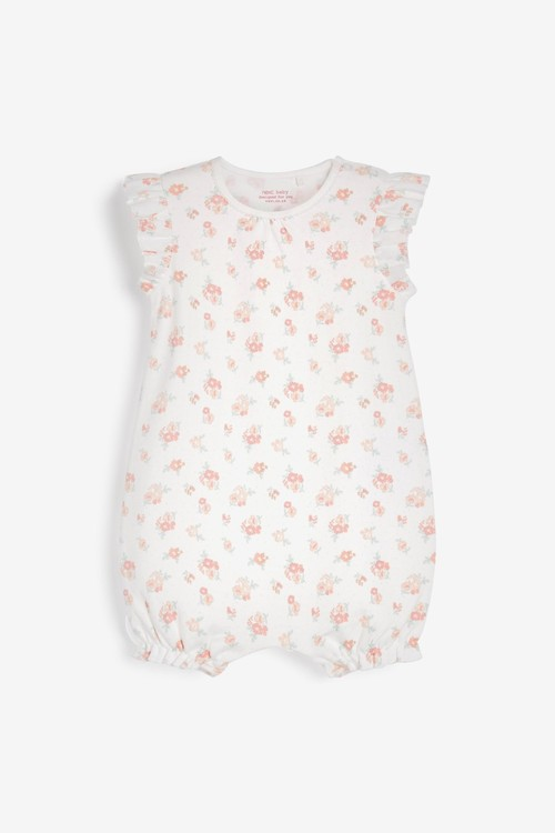 Next 4 Pack Pretty Pink Rompers (0mths-3yrs)