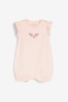 Next 4 Pack Pretty Pink Rompers (0mths-3yrs) - 286052