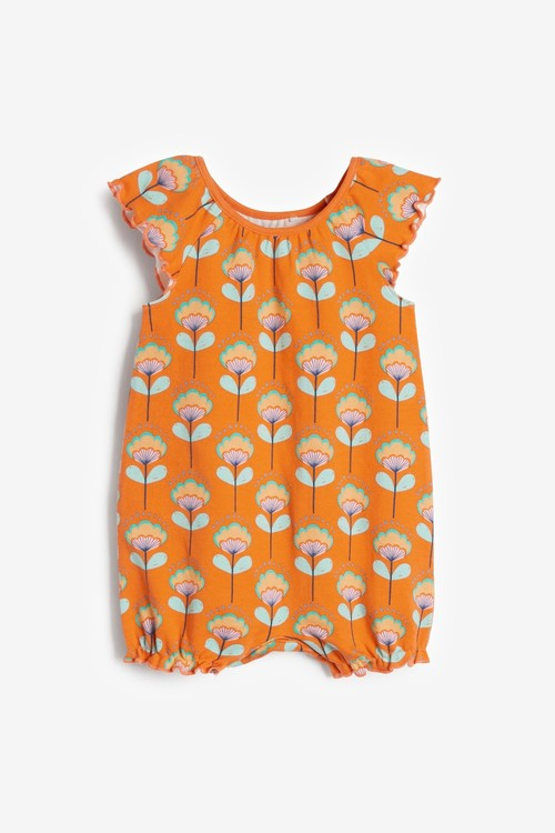 Next 3 Pack Gathered Neck Printed Rompers (0mths-3yrs)