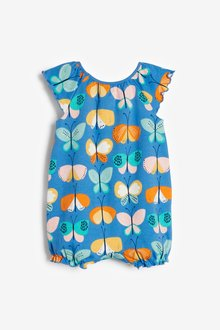 Next 3 Pack Gathered Neck Printed Rompers (0mths-3yrs) - 286057
