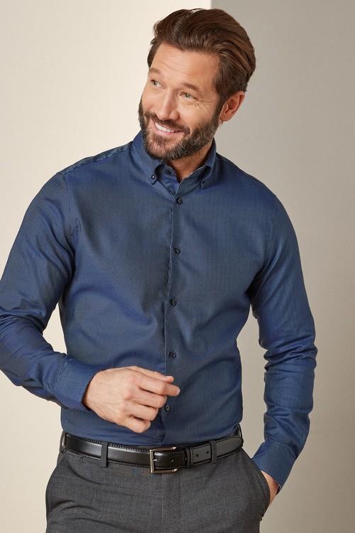 Next Signature Trimmed Shirt-Regular Fit Single Cuff