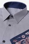 Next Slim Fit Printed Shirt With Paisley Pattern Pocket Square Set