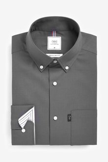 Next Easy Iron Button Down Oxford Shirt-Regular Fit Single Cuff - 286153