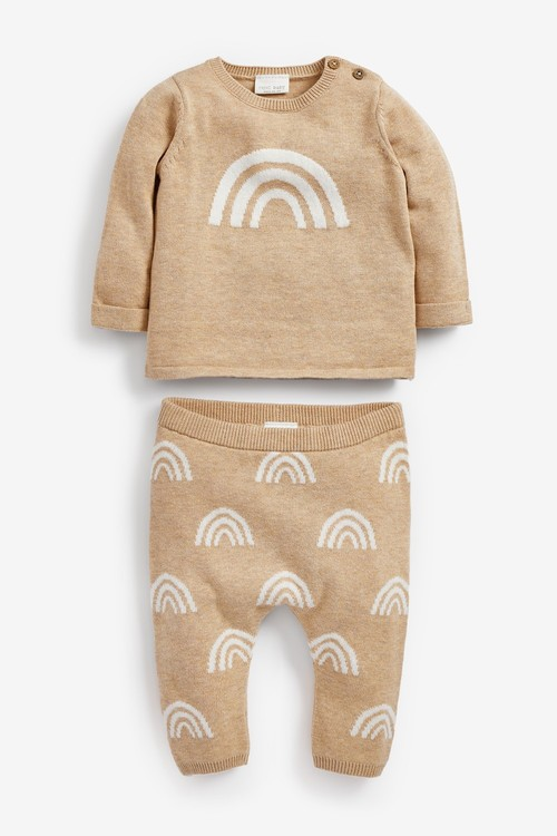Next Rainbow Knitted Jumper And Leggings Set (0mths-2yrs)