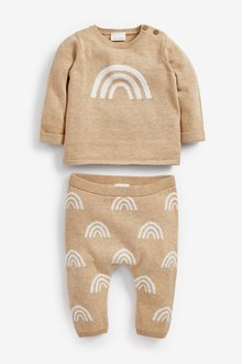 Next Rainbow Knitted Jumper And Leggings Set (0mths-2yrs) - 286165