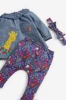 Next 3 Piece Woven Blouse, Leggings And Headband Set (0mths-2yrs)