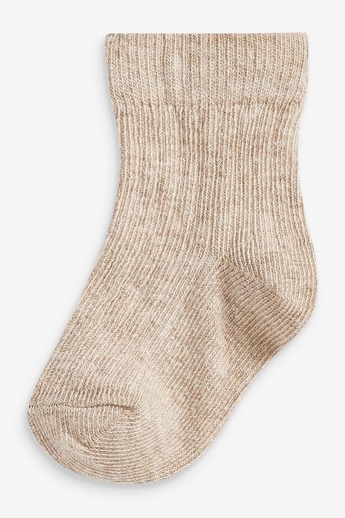 Next 7 Pack Rib Socks (Newborn)
