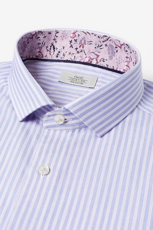 Next Stripe Shirt With Trim Detail