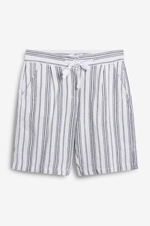 Next Linen Blend Knee Shorts - 286193
