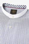 Next Stripe Grandad Collar Shirt