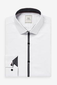 Next Textured Shirt With Placket Trim Detail - 286200
