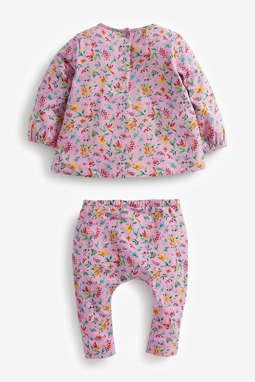 Next Floral T-Shirt And Leggings 4 Piece Set (0mths-2yrs)