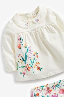 Next Floral T-Shirt And Leggings 4 Piece Set (0mths-2yrs) - 286201
