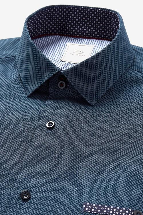 Next Short Sleeve Shirt With Trim Detail
