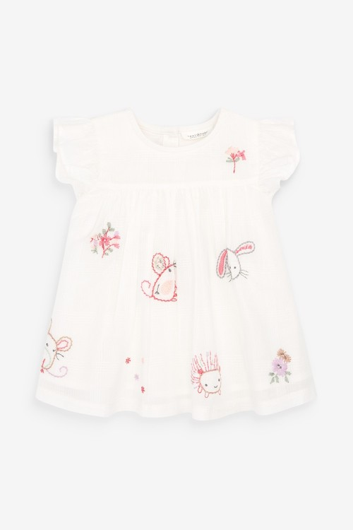 Next Character Embroidered Blouse And Bloomer Set (0mths-3yrs)