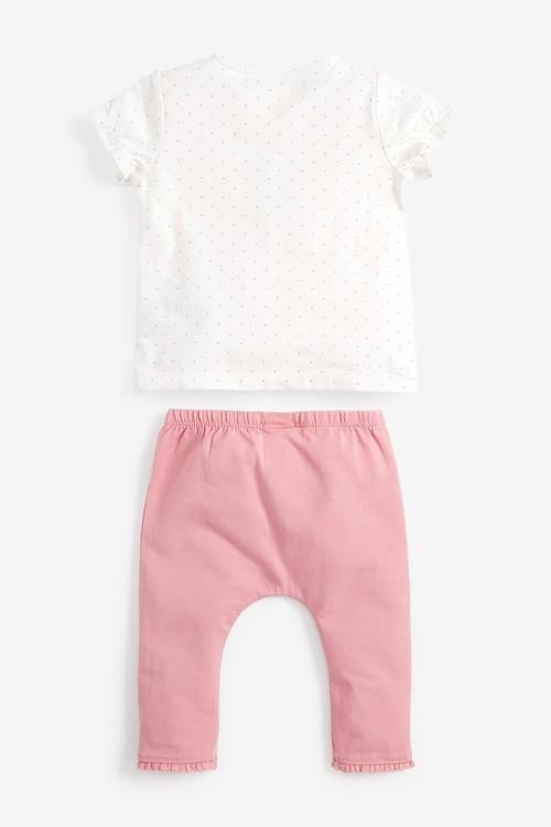 Next Bunny T-Shirt And Spot Legging Set (0mths-2yrs)