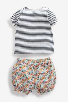 Next 3 Piece Character T-Shirt, Floral Shorts And Headband Set (0mths- - 286231
