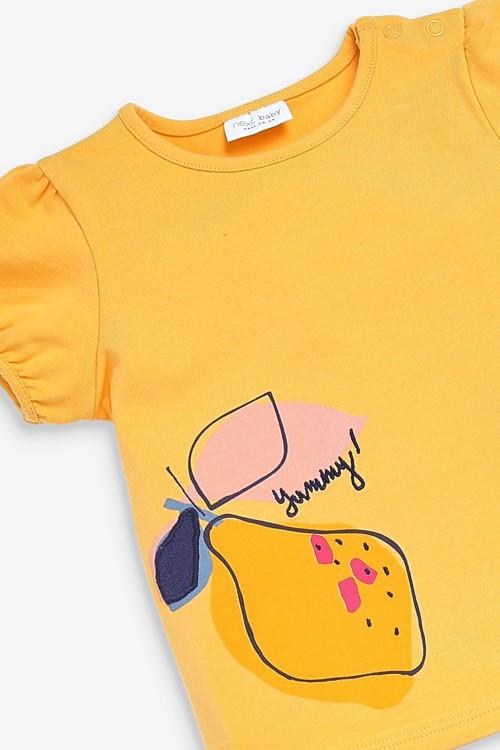Next 3 Piece Fruit T-Shirt, Legging And Bib Set (0mths-2yrs)