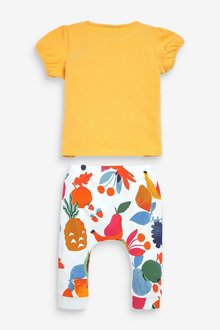 Next 3 Piece Fruit T-Shirt, Legging And Bib Set (0mths-2yrs) - 286233