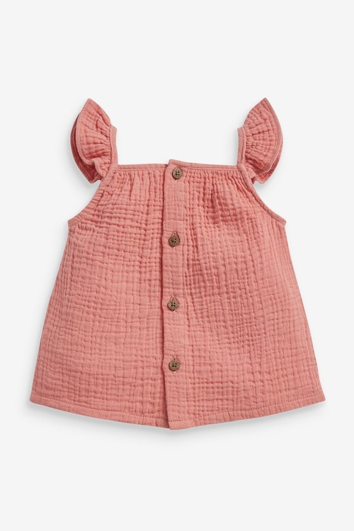 Next Woven Crinkle Top And Shorts Set (0mths-2yrs)