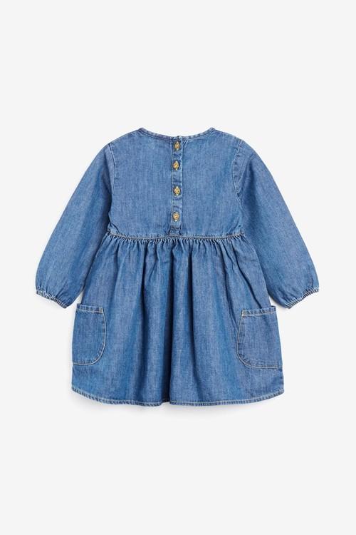 Next Long Sleeve Dress (0mths-2yrs)