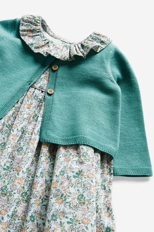 Next Floral Prom Dress and Cardigan Set (0mths-2yrs)