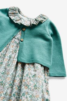 Next Floral Prom Dress and Cardigan Set (0mths-2yrs) - 286264