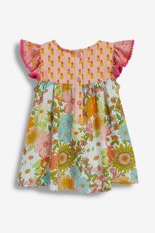 Next Floral Mixed Print Dress, Knicker And Headband Set (0mths-2yrs) - 286292