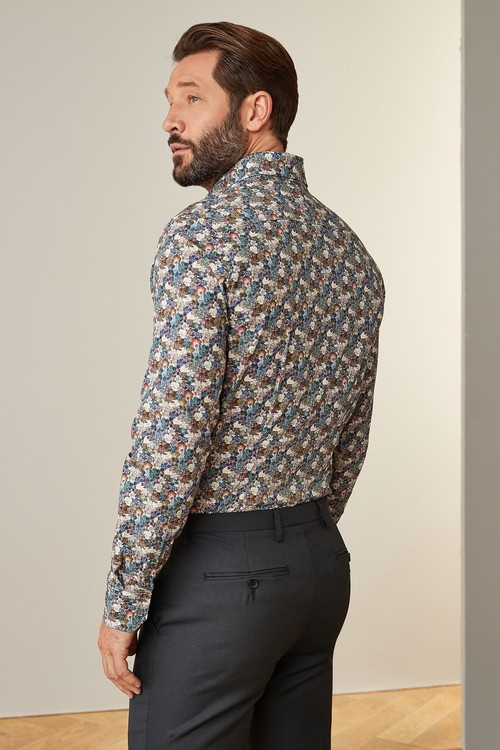Next Italian Fabric Texta Signature Shirt-Slim Fit Single Cuff