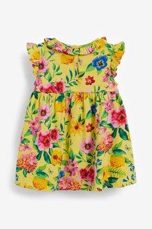 Next Floral Jersey Dress, Knickers And Headband Set (0mths-2yrs) - 286320