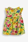 Next Floral Jersey Dress, Knickers And Headband Set (0mths-2yrs)