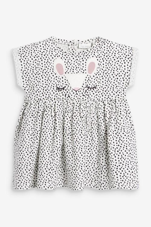 Next Bunny Face Jersey Dress (0mths-2yrs)
