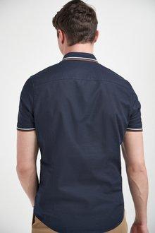 Next Knitted Collar Short Sleeve Shirt-Tall - 286328