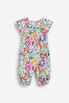 Next Floral Woven Romper (0mths-3yrs) - 286379