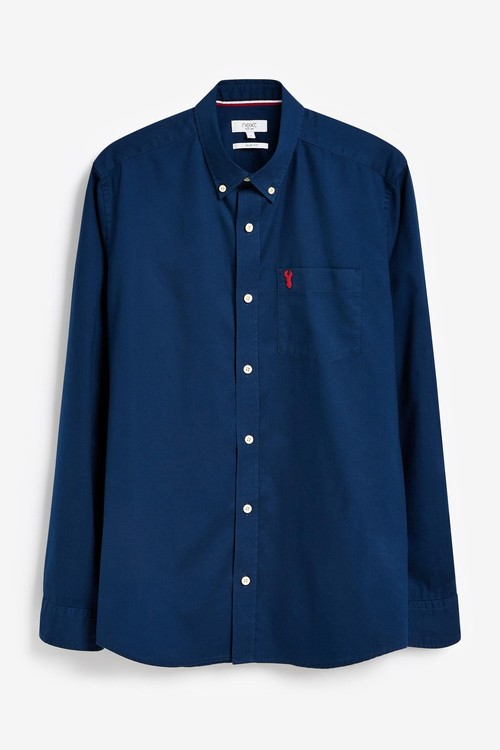 Next Roll Sleeve Lightweight Twill Shirt-Slim Fit