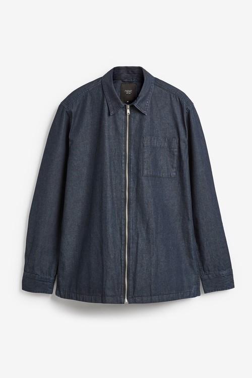 Next Denim Zip Shirt