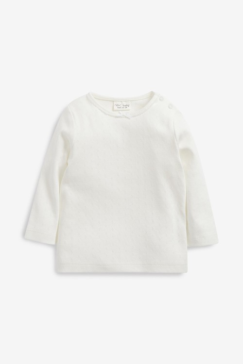 Next 4 Pack Pointelle Jersey T-Shirts (0mths-2yrs)