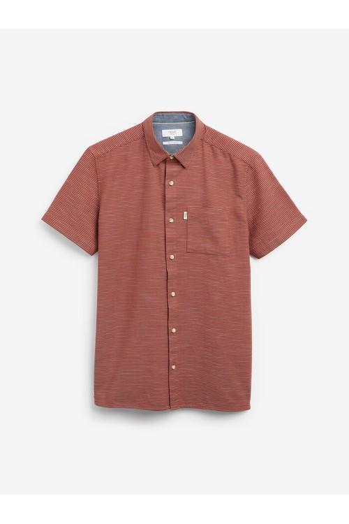 Next Textured Cross Linen Blend Shirt