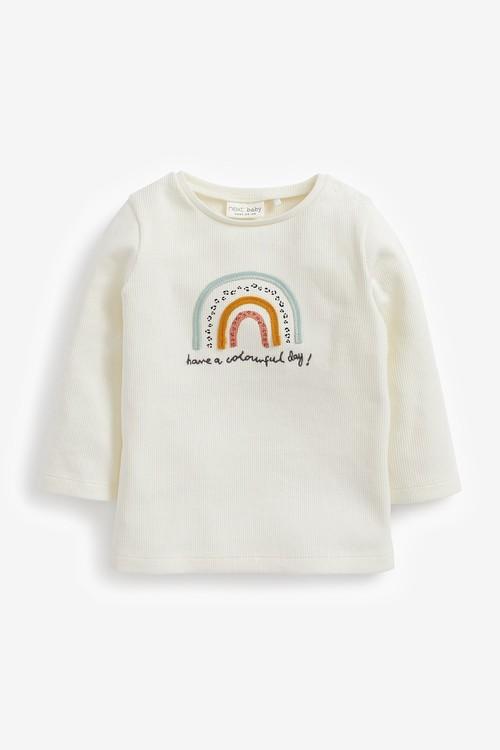 Next 3 Pack GOTS Organic Rainbow Bodysuits (0mths-2yrs)