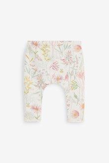 Next 3 Pack GOTS Organic Bunny/Floral Leggings (0mths-3yrs) - 286424