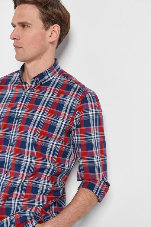 Next Roll Sleeve Check Shirt