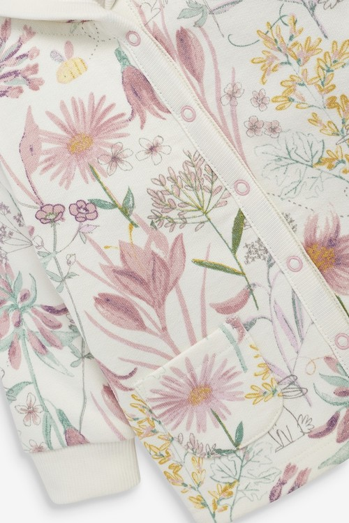 Next Floral Cosy Popper Lightweight Jacket (0mths-2yrs)